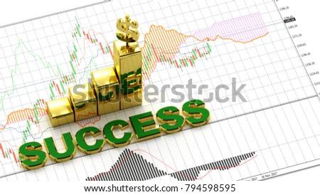 Symbol Gold Dollar Money Golden Success Stock Illustration 794598595
