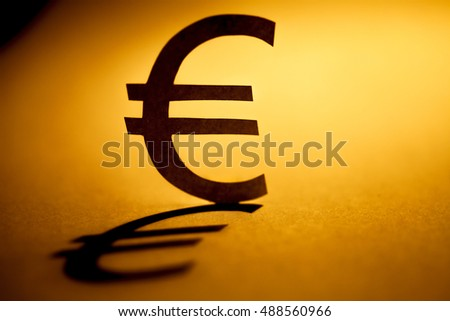 Symbol of euro money. Money concept. Selective focus.