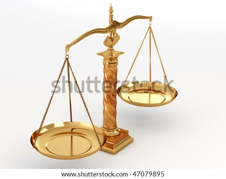 Symbol of justice. Scale. 3d - stock photo