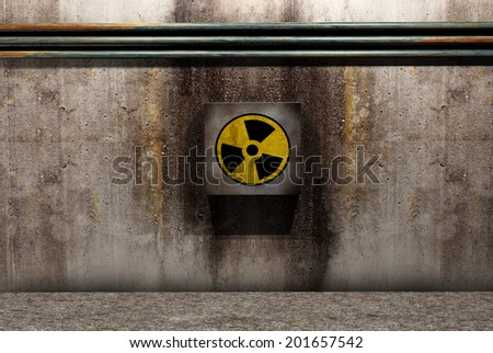 symbol of nuclear danger - stock photo