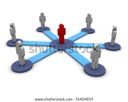 Symbol of people group - stock photo