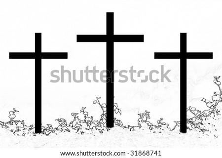 symbol of the Christian faith... - stock photo