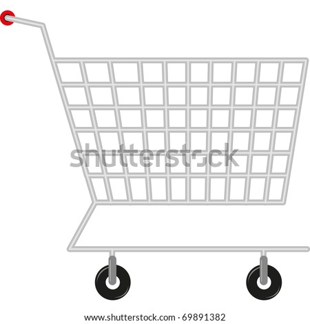 symbol of the shopping cart for shopping