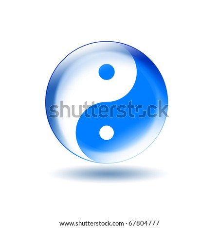 Symbol of yin and yang of the background. The sign of the two elements. - stock photo
