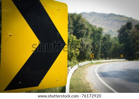 Symbol on the road - stock photo