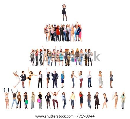 Symbol People Competition - stock photo