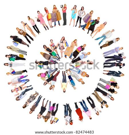 Symbol People Crowds - stock photo