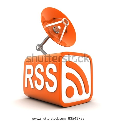Symbol RSS on cube (done in 3d, isolated)