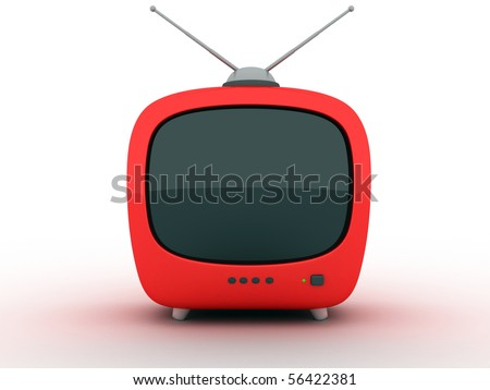 "symbol ""TV"" on a white background (3d)"