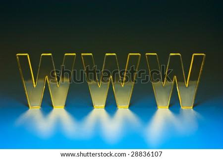 Symbol WWW. - stock photo