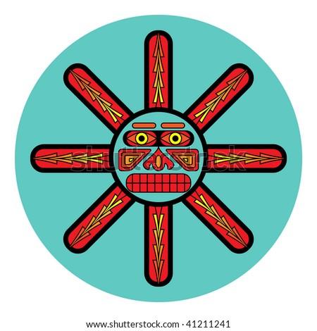 Symbolic design in pacific northwest native style. - stock photo