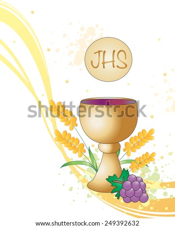 Symbolic illustration for the first communion.  - stock photo