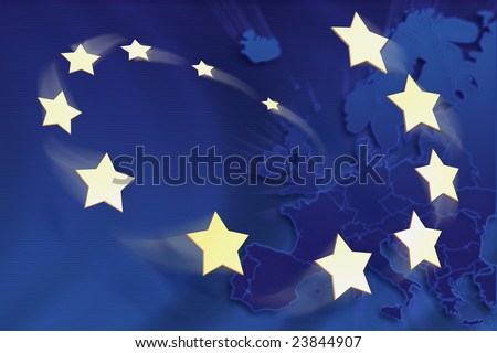 Symbolic illustration of European Union - stock photo