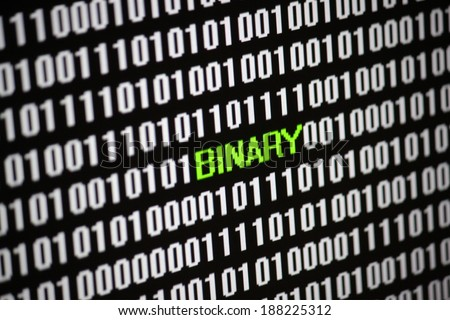 Symbolic Image: digital life/ digitization: binary.