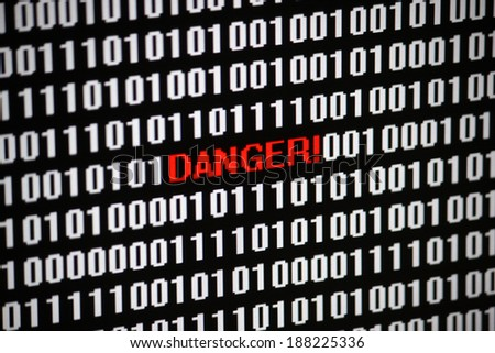 Symbolic Image: digital life/ digitization: danger.