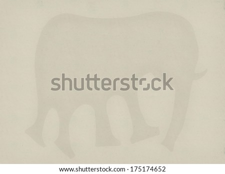 Symbolic image of the elephant which is on a white background