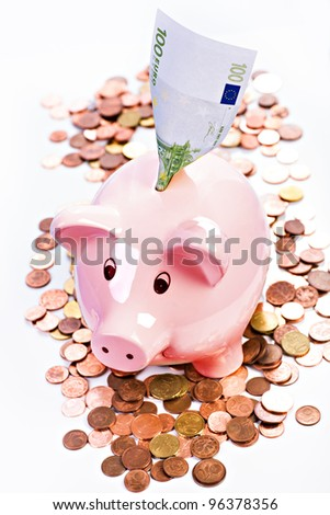 symbolic picture with piggybank for financial savings - stock photo