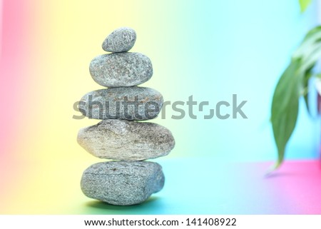 symbolic stone tower - stock photo