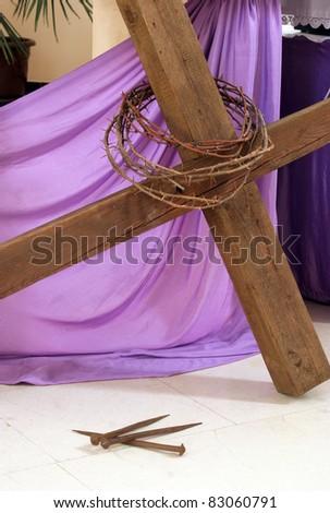 Symbols of the Passion of Jesus - stock photo