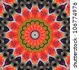 Symmetrical Kaleidoscope - stock vector