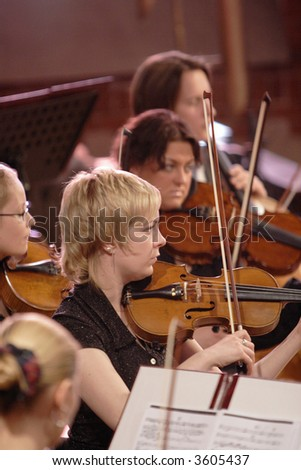 Symphonic orchestra - stock photo