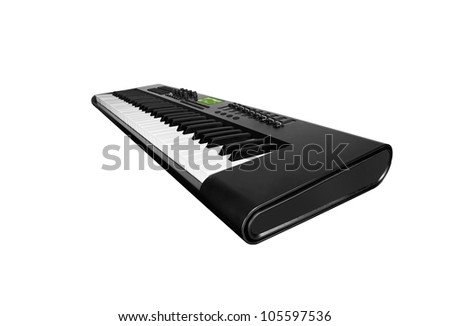 Synth keyboard - stock photo