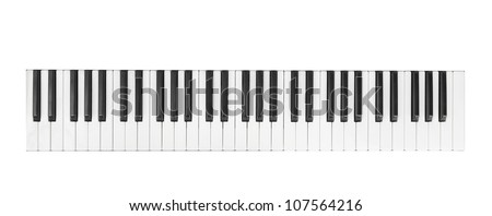 synthesizer isolated on white - stock photo
