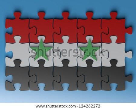 Syria Flag - stock photo