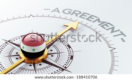 Syria High Resolution Agreement Concept - stock photo