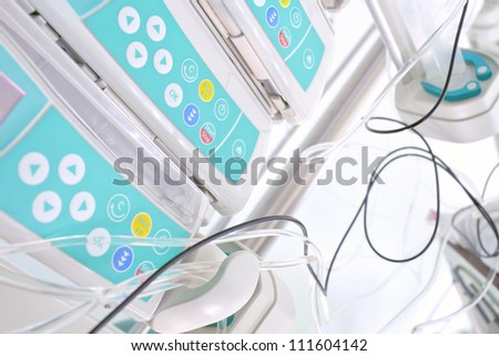Syringe pumps with the medicine. photo - stock photo