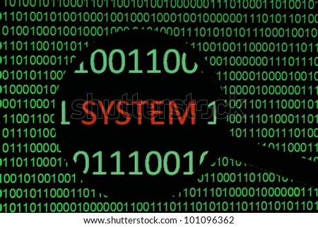 System - stock photo