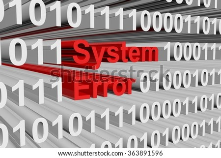 system error is presented in the form of binary code
