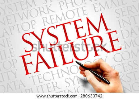 System Failure word cloud concept - stock photo