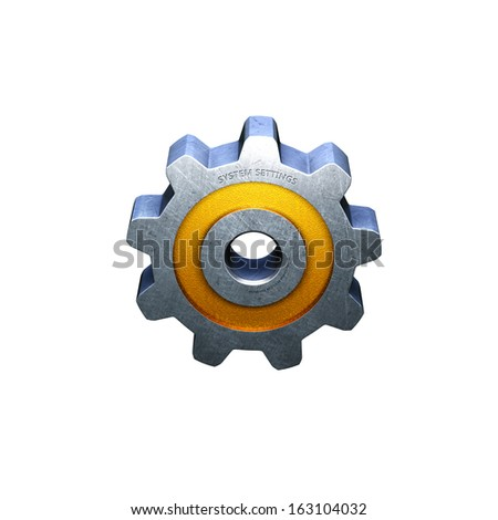System Preference Cog Gear icon - stock photo