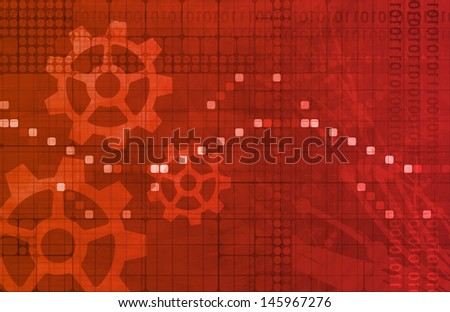 System Scan Data for Pattern Recognition Art - stock photo