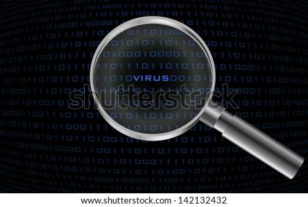 system virus detected , - stock photo