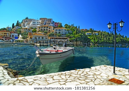Syvota - tourist resort in Greece - stock photo