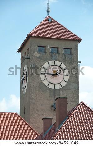 szczytno old town - stock photo