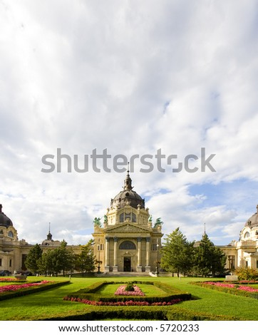 Szechenyii spa, Hero's sqaure – Városliget - stock photo