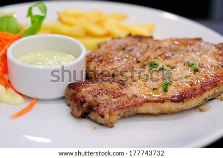 T-bone Pork Steak - stock photo