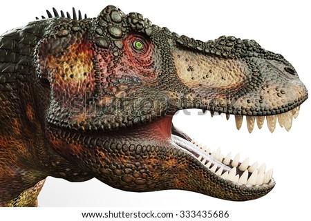 t-rex big head - stock photo