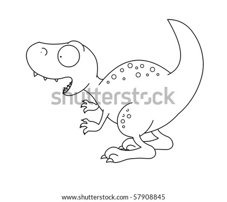 T-rex Dinosaur black and white