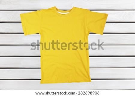 T-Shirt, Blank, Shirt. - stock photo