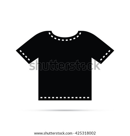 T-shirt Icon.  Raster Version - stock photo