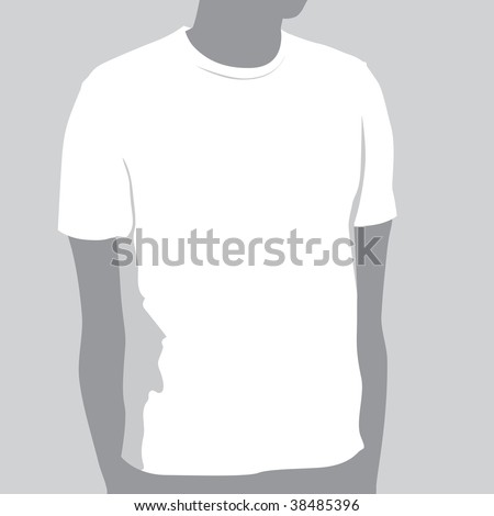 T-shirt Template With Space For Your Design