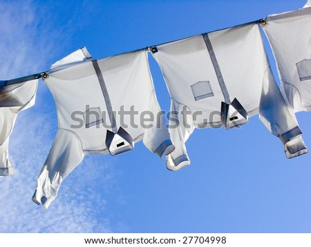 T-shirts in wind