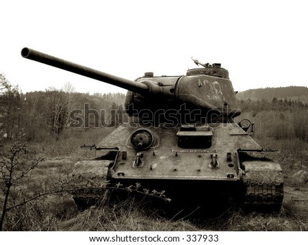 T-34 tank - stock photo