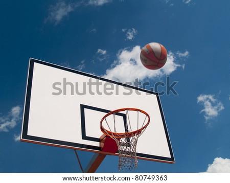 Table and Basketball - stock photo