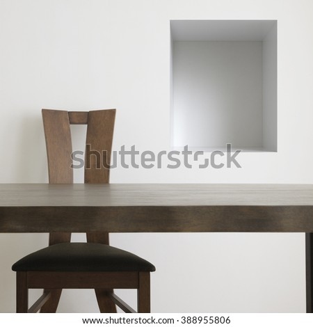 table and chair abstract. - stock photo