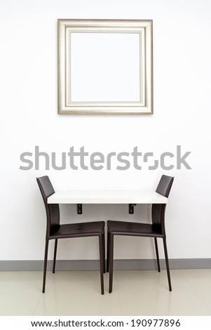 table and chairs for small space - stock photo